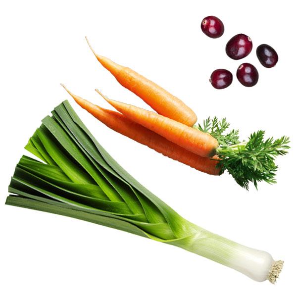 Gemüse Beeren Olivenextrakt